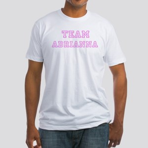 Pink team Adrianna Fitted T-Shirt