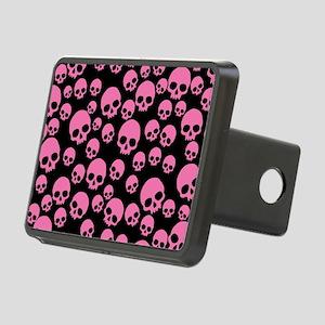 Random Pink Skulls Rectangular Hitch Cover