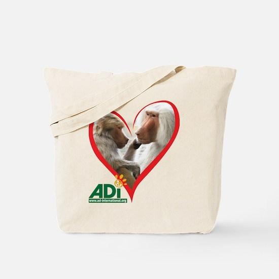 Tilin and Tina Valentine Tote Bag