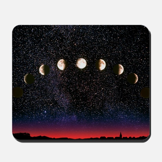 Composite time-lapse image of the lunar phases - M
