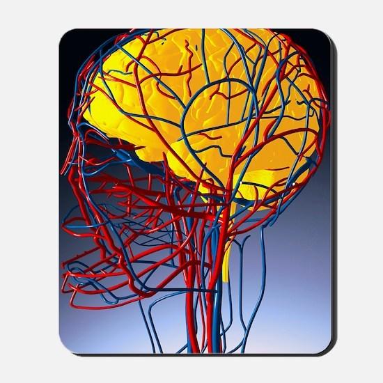 Circulatory system and brain, artwork - Mousepad