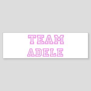 Pink team Adele Bumper Sticker