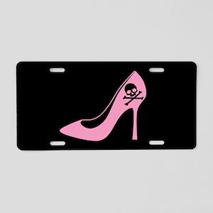 Evil Pink High Heel Aluminum License Plate