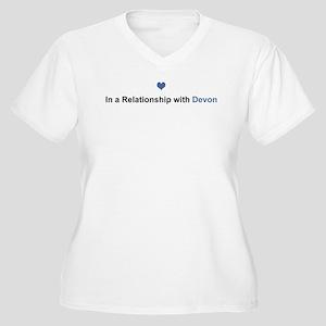 Devon Relationship Women's Plus Size V-Neck T-Shir