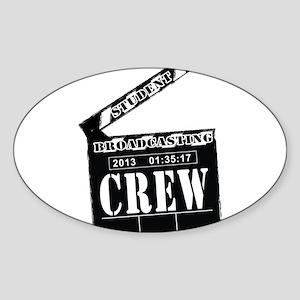 Broadcasting swag Sticker (Oval)