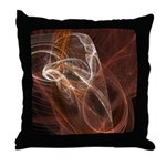 Radiant Heat Fractal Throw Pillow