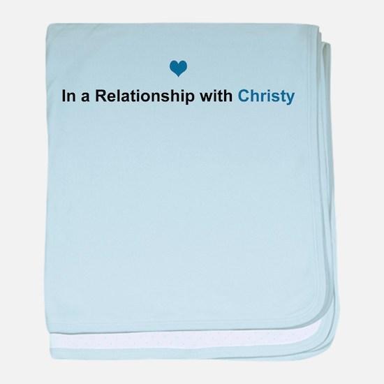 Christy Relationship baby blanket