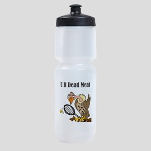 Funny Buzzard Tennis Art Sports Bottle