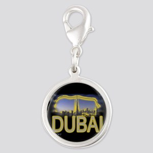 i love dubia art illustration Silver Round Charm
