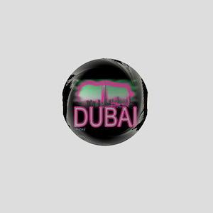 dubai art illustration Mini Button