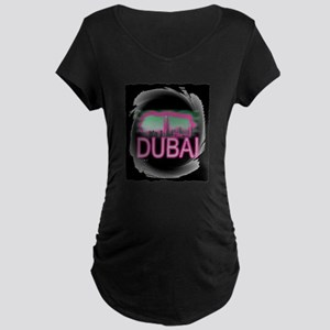 dubai art illustration Maternity Dark T-Shirt