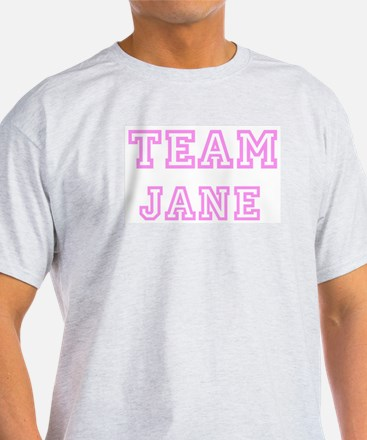 Pink team Jane Ash Grey T-Shirt