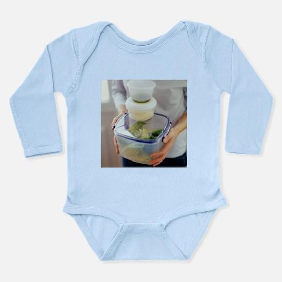 Salad ingredients - Long Sleeve Infant Bodysuit