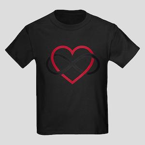 Infinity heart, never ending love Kids Dark T-Shir