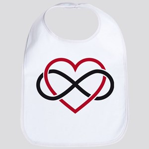 Infinity heart, never ending love Bib