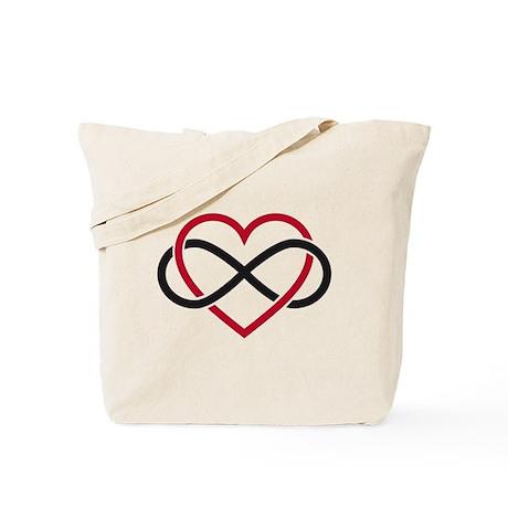 Infinity heart, never ending love Tote Bag
