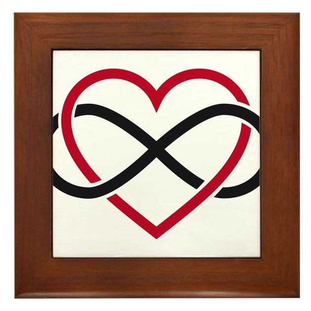 Infinity Heart Never Ending Love Framed Tile By Listing Store 75147373