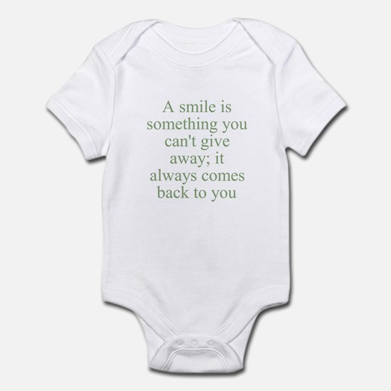 A smile is something you can' Infant Bodysuit