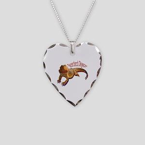 Bearded Dragon III Necklace Heart Charm
