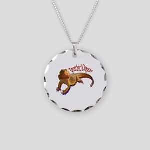 Bearded Dragon III Necklace Circle Charm