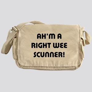Right Wee Scunner. Messenger Bag