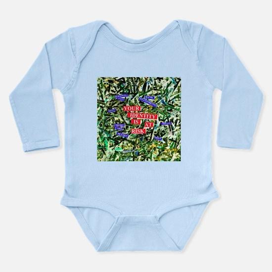 Identity fraud - Long Sleeve Infant Bodysuit