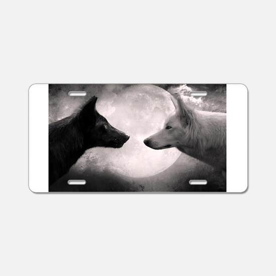 Best selling wolf Aluminum License Plate
