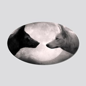 Best selling wolf 20x12 Oval Wall Decal