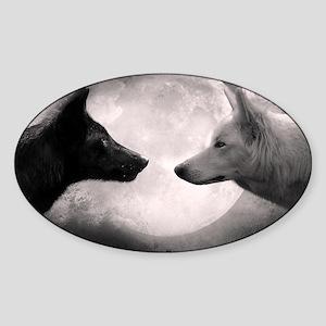 Best selling wolf Sticker (Oval)