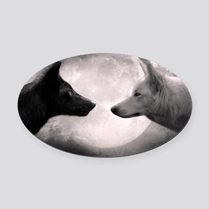Best selling wolf Oval Car Magnet