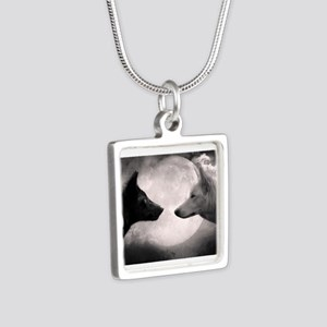 Best selling wolf Silver Square Necklace