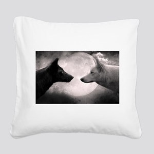 Best selling wolf Square Canvas Pillow