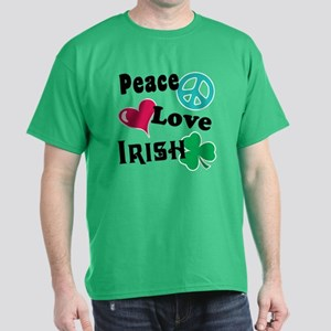 Peace Love Irish Dark T-Shirt