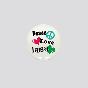 Peace Love Irish Mini Button