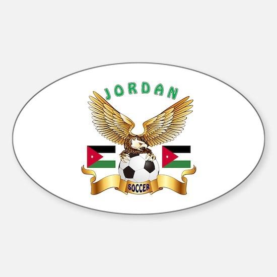 Jordan Football Design Sticker (Oval)