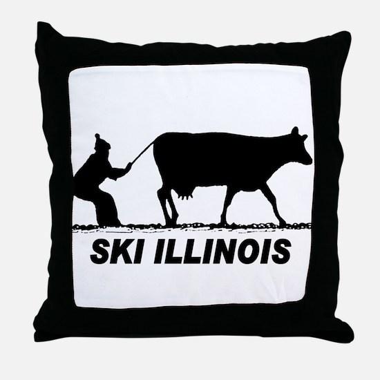 The Ski Illinois Shop Throw Pillow