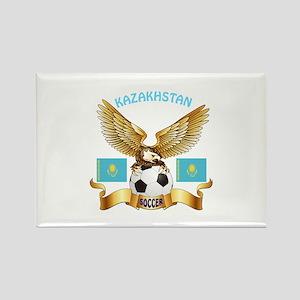Kazakhstan Football Design Rectangle Magnet