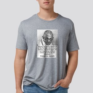 Among The Many Misdeeds - Mahatma Gandhi Mens Tri-