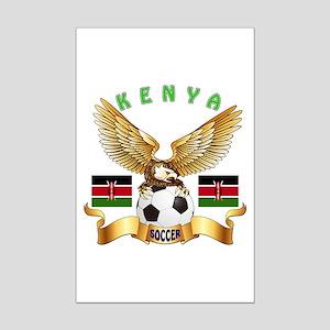 Kenya Football Design Mini Poster Print
