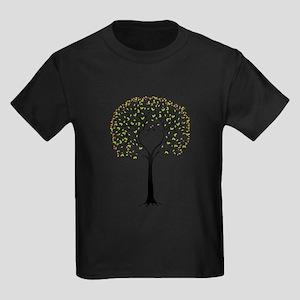 Love tree with heart branches, birds and hearts Ki