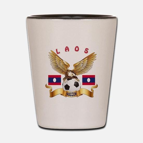Laos Football Design Shot Glass