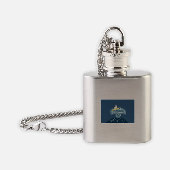 Surfing Flask Necklace