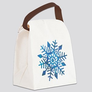 Serene Snowflake Canvas Lunch Bag