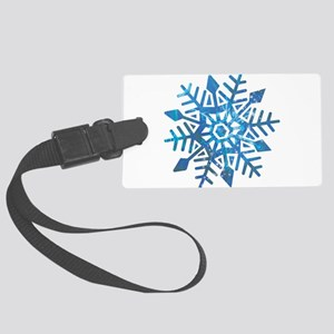Serene Snowflake Large Luggage Tag