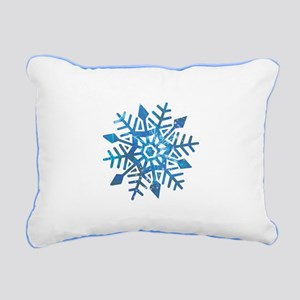 Serene Snowflake Rectangular Canvas Pillow