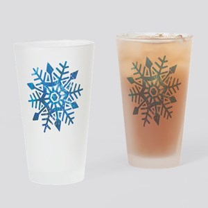 Serene Snowflake Drinking Glass