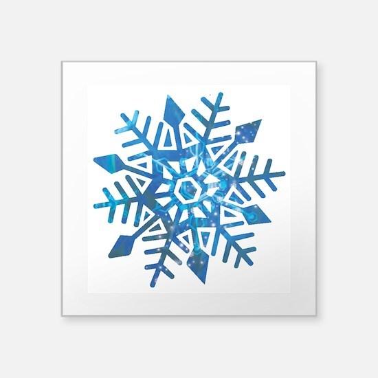 "Serene Snowflake Square Sticker 3"" x 3"""