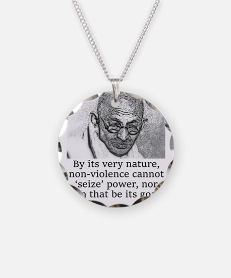 By Its Very Nature - Mahatma Gandhi Necklace