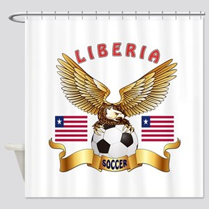 Liberia Football Design Shower Curtain