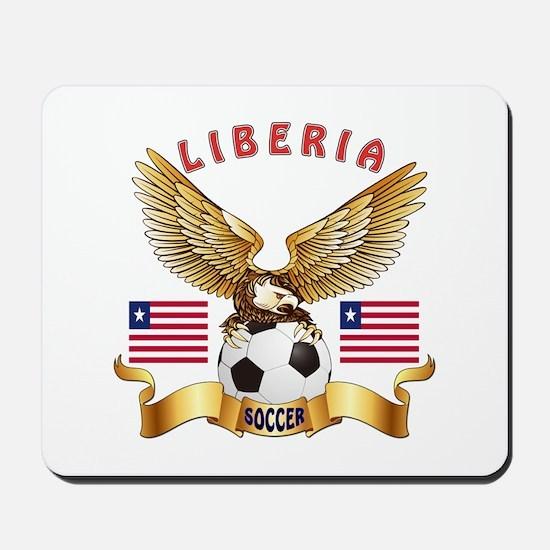 Liberia Football Design Mousepad